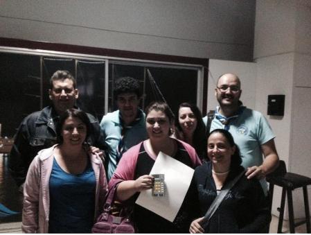 Εικόνα: 7 Στην έξοδό μας από την Ένωση τυφλών με την εμπειρία της γραφής Braille και το δωράκι μας ανά χείρας